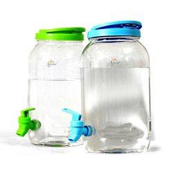 SHINE Double Drinks Dispenser 6L- Plastic Jar Jug Home Party Picnic Garden Bar B Q 2