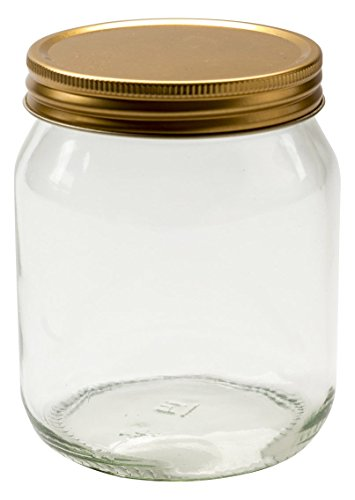Vaso di Nutley, Vetro Rotondo, Miele Candela profumata, 24-pc