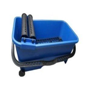Secchio per piastrellista, 16 l, con manici e ruote, griglia-Setaccio-Rotoli di lavaggio