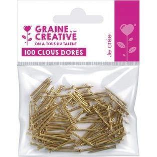 100 chiodi dorati per String Art – 20 mm