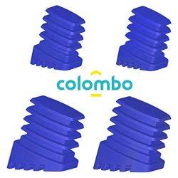 Colombo Kit Piedini di Ricambio per Scala, Blu, 4 pezzi