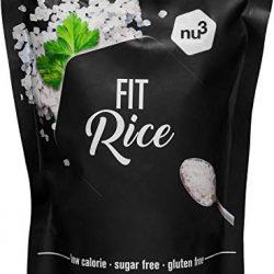nu3 Low Carb Rice di Konjac Glucommanan   Confezione da 350 g   Riso senza carboidrati   solo 14 calorie per confezione   A basso contenuto calorico   Vegani, senza lattosio e senza glutine