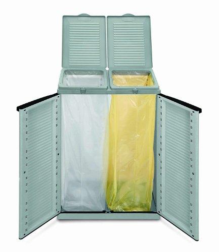 Terry 43560 Armadio in Plastica per Raccolta Differenziata, Grigio, 68x39x88,7 cm 3