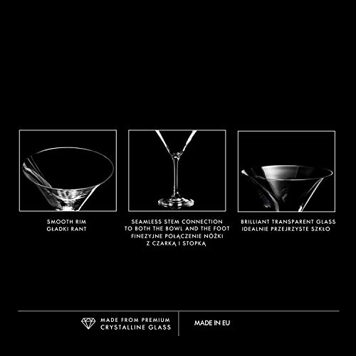 Krosno Bicchieri Cocktail Martini Bar Vetro Coppa   Set di 6   150 ML   Elite Collection   Ideale per la casa, Ristorante Feste e Ricevimenti   Adatto alla Lavastoviglie e Forno a Microonde 6