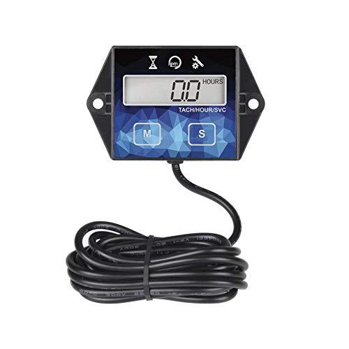 Jayron JR-HM011F Ora di manutenzione del tachimetro digitale autoalimentato,promemoria di manutenzione del misuratore,batteria sostituibile,utilizzare per apparecchiature di alimentazione esterna