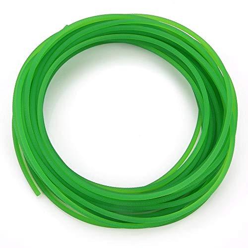 Cinghia di trasmissione, cinghie tonde in uretano ad alte prestazioni Superficie ruvida verde Cinghia rotonda in poliuretano per la migliore trasmissione(3mm*10m)