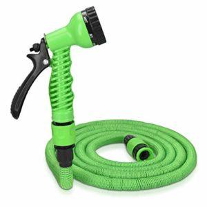 Navaris Tubo Estensibile da Giardino – 2,5-7,5m Pistola 7 funzioni getti – Triplo Strato Ultra Resistente Raggi UV 0°C per irrigazione Giardino