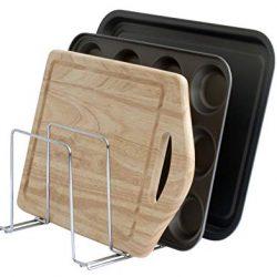 simplywire – Supporto teglie da forno, vassoi e taglieri – Portapentole – Organizer da cucina – Cromato