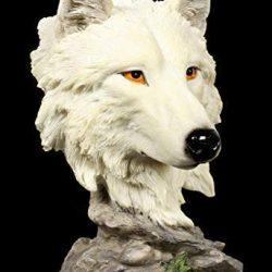 Figuren Shop Gmbh Figura Decorativa Lupo Busto – Lonely Hunter Scultura Animali, Dipinto a Mano