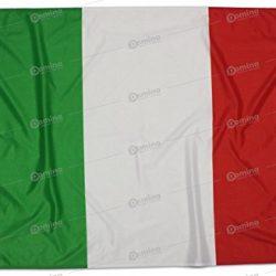 Bandiera Italia 150×100 Centimetri Tessuto Nautico Antivento 115 gram/m², Bandiera Italiana 150×100, Bandiera d'Italia Dotata Di Cordino o Ganci, Doppia Cucitura Perimetrale, Fettuccia Di Rinforzo