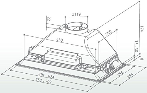 FABER S.p.A. INCA SMART HC X A52 420 m³/h Integrato Acciaio inossidabile 3