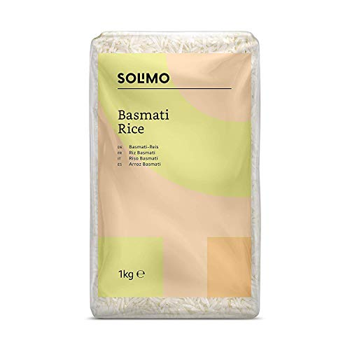 Marchio Amazon Solimo Riso Basmati,  4 kg (4 confezioni x 1kg)