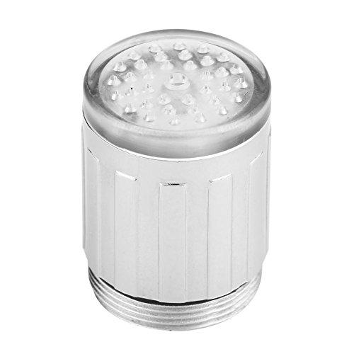 Fdit 3 colori che cambiano LED luce di rilevamento della temperatura dell' acqua del rubinetto cucina bagno acqua lavello attacco