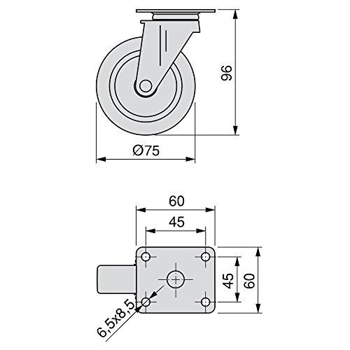 FERMAIMPOSTE PLASTICA GRILLO NERO (PZ.2)