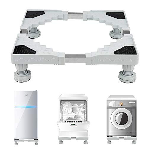dewel base lavatrice regolabile con 4 PIEDINI in gomma resistenti supporto per lavatrice, Asciugacapelli e frigorifero