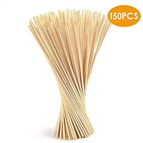 Coriver 150 Pezzi Bastoncini di diffusore a Lamella, Sostituzione di Bastoncini di diffusore di fragranza di Olio Essenziale per Profumo di Aroma -24 cm * 3 mm 2
