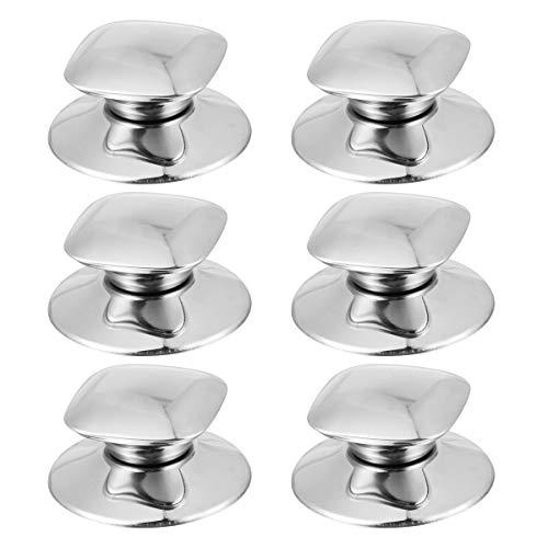 Bestonzon 6pcs forma quadrata in acciaio INOX pot manopola cucina maniglia sostituzione pentole pentola coperchio Holding pomello