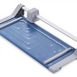 Dahle 507 – Taglierina, modello 2020, capacità di taglio 8 fogli, fino a DIN A4, colore: Blu