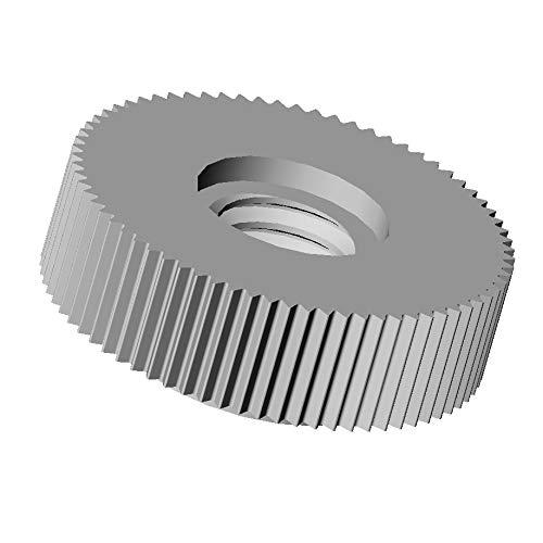 Ajile – 50 pezzi – Dado nylon zigrinato DIN467 diam. M6 | diam. esterno = 16 mm NERO plastica poliammide PA6.6 isolante – UMO106-M