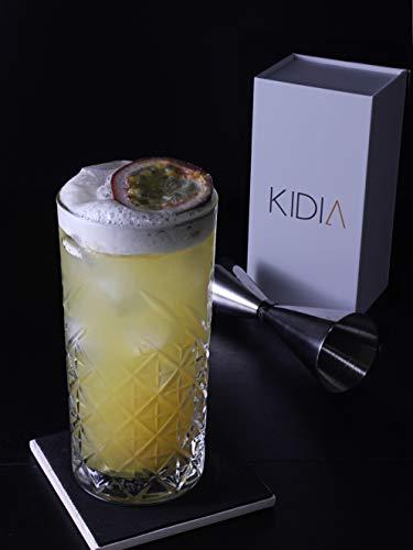 Kidia – Jigger in Acciaio Inox Inossidabile,Dosatore Cocktail per Attrezzatura Bar,Misurino graduato 7