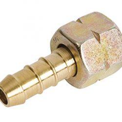 """IGT con raccordo di tubo manicotto di serraggio tubo 1/4"""" sinistro, oro"""