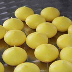 HMH – 10 candele galleggianti, Ø 45 mm, colore: Giallo