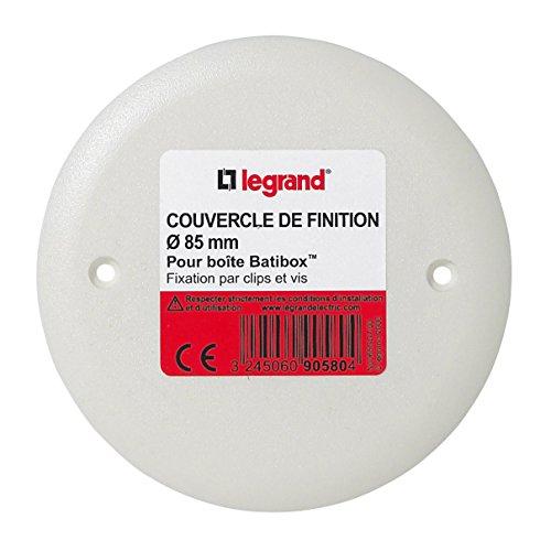 Legrand LEG90580 – Coperchio per scatola da incasso rotonda, diametro 85 mm