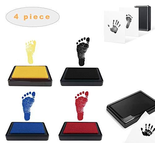 Tamponi di inchiostro per impronte e impronte neonato, Inchiostro per impronte di mani e piedi per bambini, Kit impronte bambini Inchiostro, Tampone di inchiostro di mani