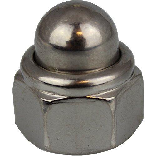 50pezzi cappello Dadi M6selbstsichernd con nichtmetallischem morsetto adattatore DIN 986Acciaio Inox A2