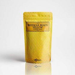 Perline di cera d'api gialle per uso cosmetico, 100 g