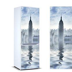 Oedim – Adesivi in Vinile per Frigorifero Torre York   Diverse Misure 200 x 70 cm   Adesivo Resistente e di Facile Applicazione   Adesivo Decorativo dal Design Elegante 2