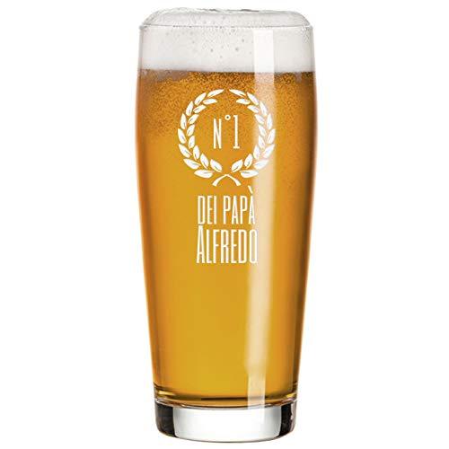 Angolo del Regalo Bicchiere da Birra di papà Personalizzato – Numero Uno