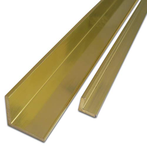 B & T Metallo Ottone Angolo 15X 15X 3mm in cuzn39pb3(ms58) lunghezza circa 1MTR. (1000mm + 0/3mm)
