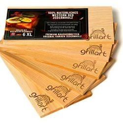 Grillart – Set da 6tavolette in legno di cedro per grigliare, dimensione XL, 100% in legno di cedro rosso occidentale canadese naturale, per dare un sapore particolare alle vostre grigliate