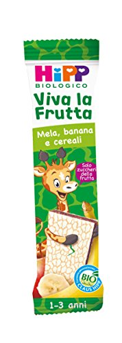 Hipp Barrette Viva la Frutta Mela Banana e Cereali – Confezione da 22 x 23 g
