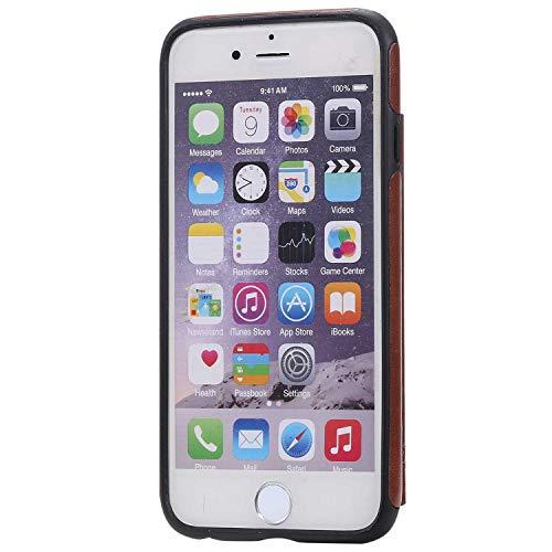 Ramcox iPhone 6 / iPhone 6s Protettiva Cover, Alta qualità Cover per iPhone 6 / iPhone 6s, Premium Custodia in Pelle di Portafoglio Cover con Funzione Supporto, Marrone 4