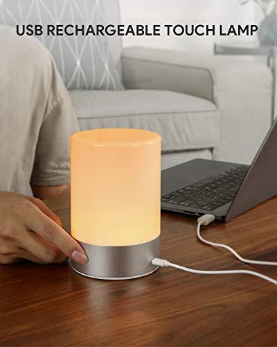 AUKEY Lampada da Comodino RGB Ricaricabile con 3 Luminosità 5