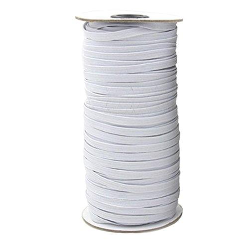 ULTNICE Cavo elastico in nastro elastico bianco a fascia piatta per abbigliamento 10m x 6mm (bianco)