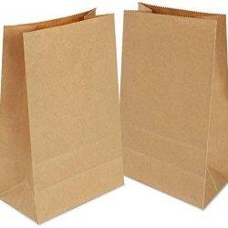 Gaoyong 100 PZ Sacchetti di Carta,Sacchetti Carta Kraft,Sacchetti Carta Alimenti,Sacchetto Pane,Sacchetti Pane Marrone?Sacchetti Asporto per Popcorn Ortofrutta Semi Caramelle 2