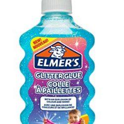 ELMER'S Colla Glitterata, Lavabile e Adatta ai Bambini, Ottima per Realizzare Slime, 177 ml, Blu