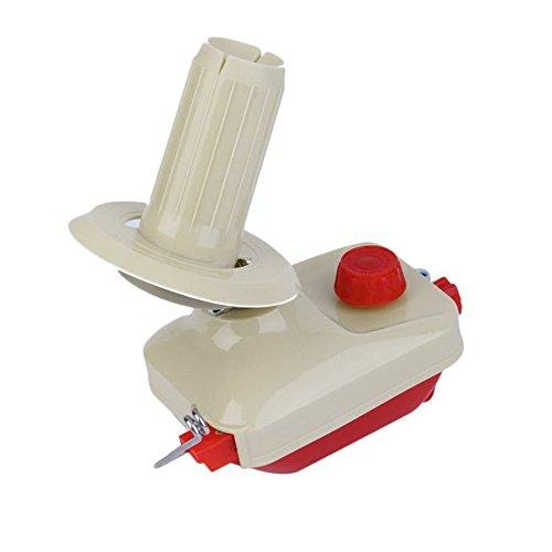 Ballylelly Portable Hand-Operated Swift Filato Fibra String Filo Lana Avvolgitore per maglieria Rotolo Bobina Tidy Portautensile Strumento Beige & Rosso