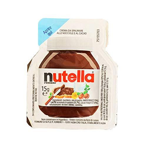 Nutella Ferrero – 120 vaschette monodose cioccolato alle nocciole spalmabile da 15gr