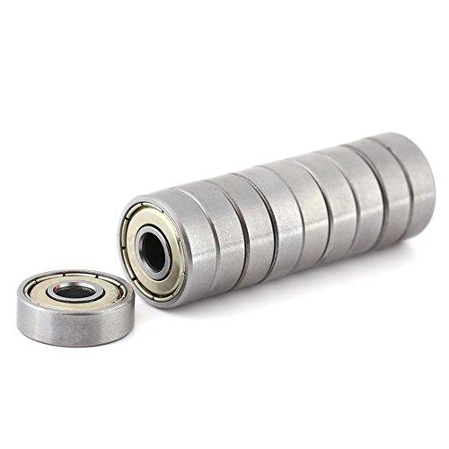 Akozon Cuscinetto a Sfere, 10 pz 626ZZ Cuscinetti a Sfere in Miniatura in Metallo Resistente al Carbonio, Schermato in uso multiuso 6 * 19 * 6 mm