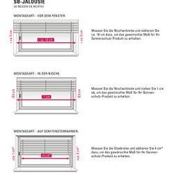 Vetrineinrete® Tende veneziane in PVC Veneziana Finestra Tenda Marrone Bianco Beige Chiaro o Scuro Effetto Legno Varie Dimensioni