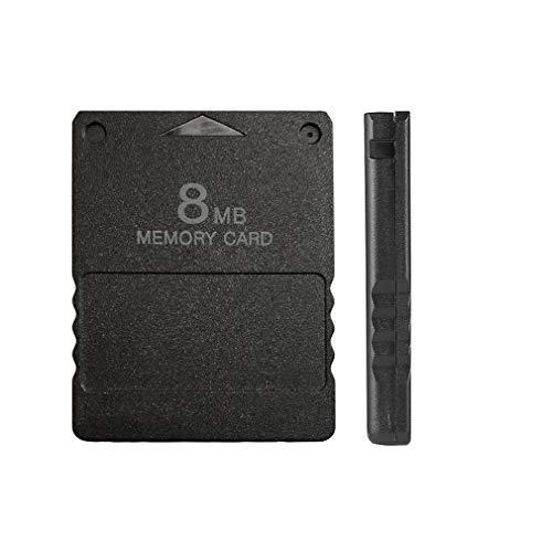 gfjfghfjfh Compact Design Nero 8 MB di schede di Memoria Memory Card Adatta per Playstation 2 PS2 Black 8MB Memory Card 8
