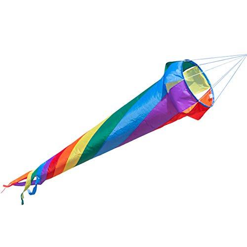 Manica a vento – Windturbine 150 RAINBOW – Impermeabile e resistente ai raggi UV – Ø35cm, Lunghezza: 150cm – incl. clip girevoli con cuscinetti a sfere 2