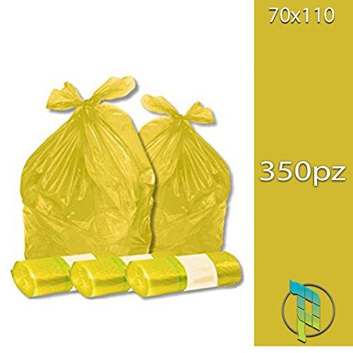 Palucart® Sacchi spazzatura colore GIALLO cm 70×110 (110 litri) 350 pezzi 2