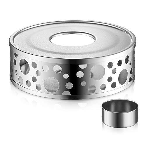 Glastal Scalda Teiera in acciaio inox fornello a candela per teiere 3