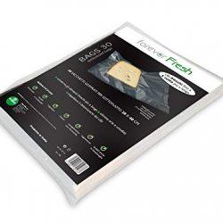 Macom Forever Fresh 701. Confezione di 30 Sacchetti Goffrati per la Conservazione Sottovuoto Alimenti, 28 x 40 cm, Plastic