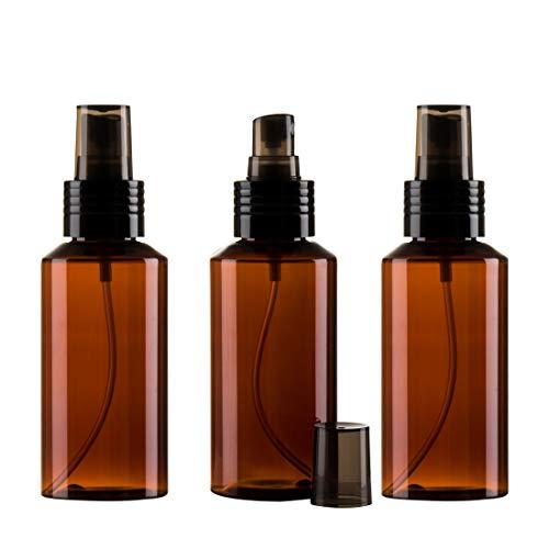 Tompig Bottiglie spray 3 pz 100 ml beauty trasparente plastica atomizzatore Flacone spray vuoto cosmetici trucco dispenser,per oli essenziali, profumi o da viaggio
